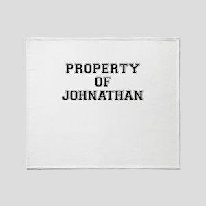 Property of JOHNATHAN Throw Blanket