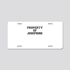 Property of JOSEPHINE Aluminum License Plate