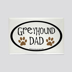 Greyhound Dad Oval Rectangle Magnet