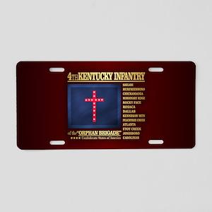 4th Kentucky Infantry Aluminum License Plate