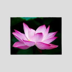 Indian Lotus Flower Blossem 5'x7'Area Rug