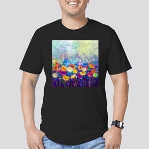 Floral Painting Men's Fitted T-Shirt (dark)
