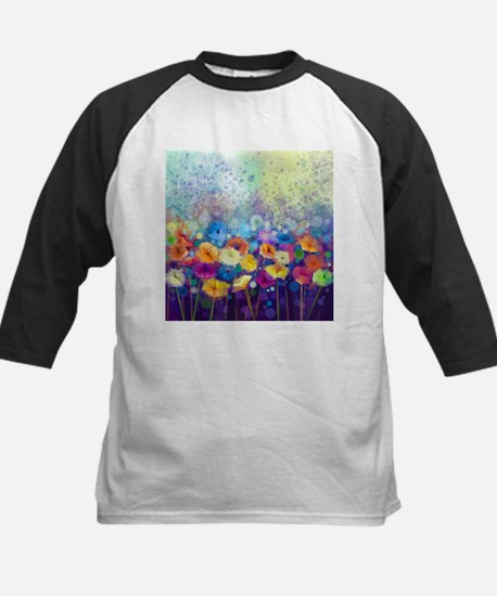 Floral Painting Kids Baseball Jersey