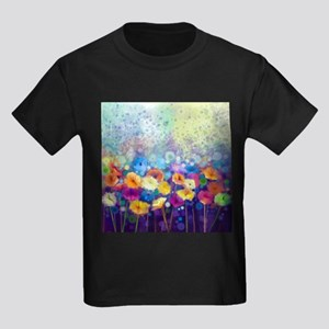 Floral Painting Kids Dark T-Shirt