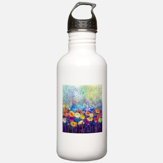 Floral Painting Water Bottle