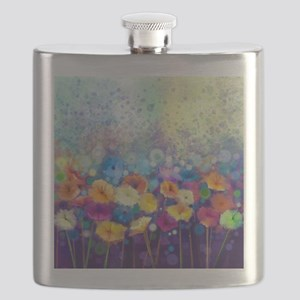 Floral Painting Flask
