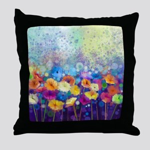 Floral Painting Throw Pillow