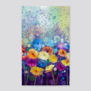 Floral Painting Area Rug