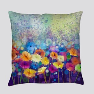 Floral Painting Everyday Pillow