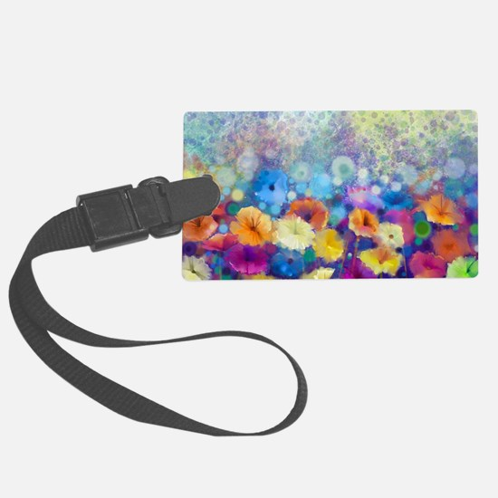 Floral Painting Large Luggage Tag