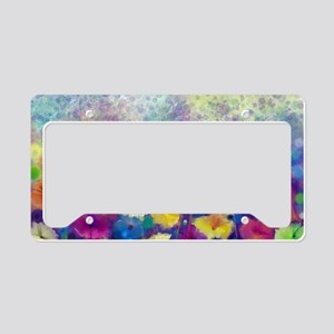 Floral Painting License Plate Holder