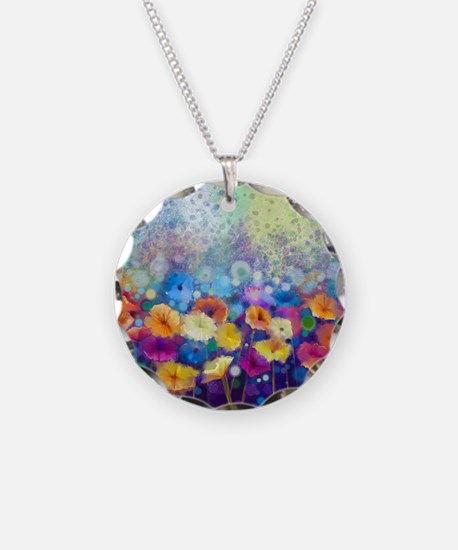 Floral Painting Necklace