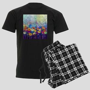 Floral Painting Men's Dark Pajamas