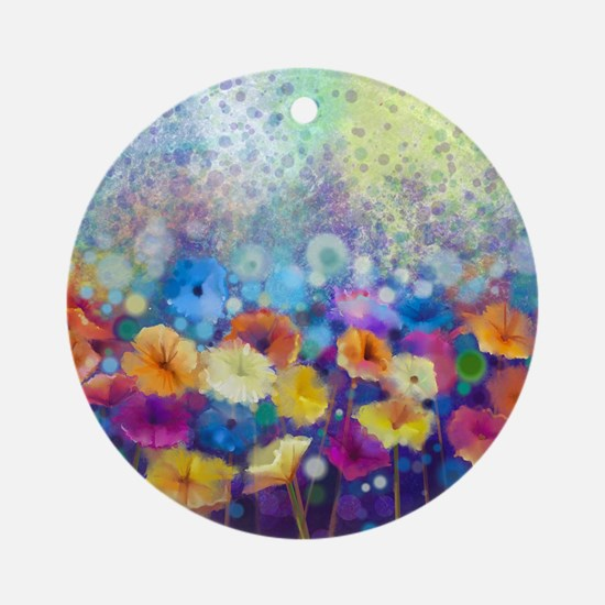 Floral Painting Round Ornament