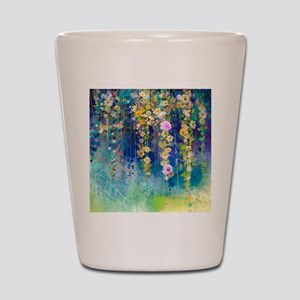 Floral Painting Shot Glass