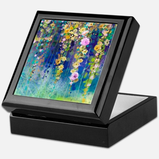 Floral Painting Keepsake Box