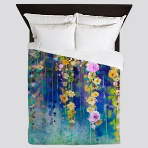 Floral Painting Queen Duvet