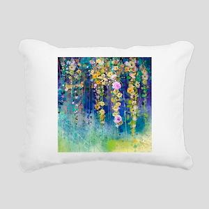 Floral Painting Rectangular Canvas Pillow