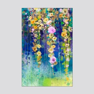 Floral Painting Mini Poster Print