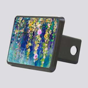 Floral Painting Rectangular Hitch Cover