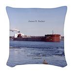 James R. Barker Woven Throw Pillow