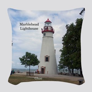 Marblehead Lighthouse Woven Throw Pillow