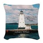 Ludington North Breakwater Woven Throw Pillow