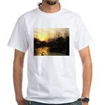 sunset over water White T-Shirt
