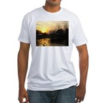 sunset over water Fitted T-Shirt