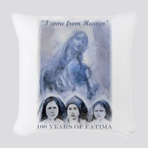 100 Years of Fatima Woven Throw Pillow