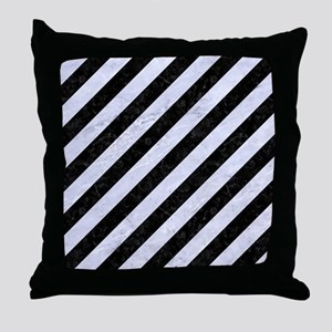 STR3 BK-WH MARBLE Throw Pillow