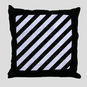STR3 BK-WH MARBLE Throw Pillow