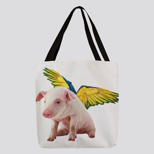 Pigs Fly Polyester Tote Bag