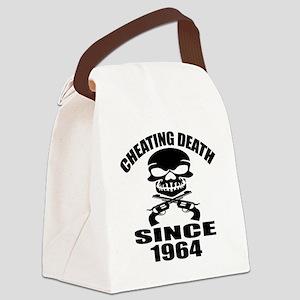 Cheating Death Since 1964 Birthda Canvas Lunch Bag