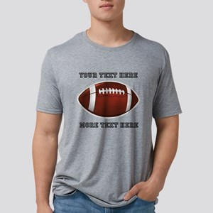 Personalized Football Mens Tri-blend T-Shirt