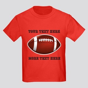 Personalized Football Kids Dark T-Shirt
