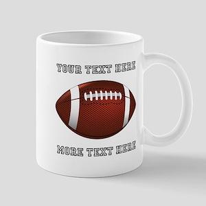 Personalized Football 11 oz Ceramic Mug