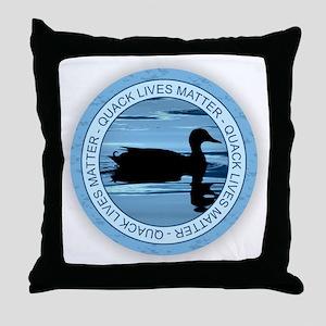 Quack Lives Matter Throw Pillow