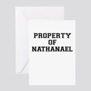 Property of NATHANAEL Greeting Cards