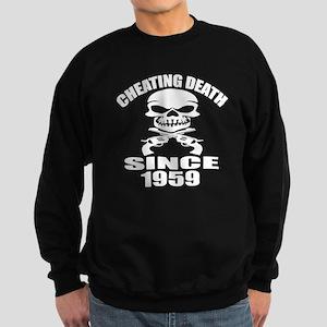 Cheating Death Since 1959 Birthd Sweatshirt (dark)