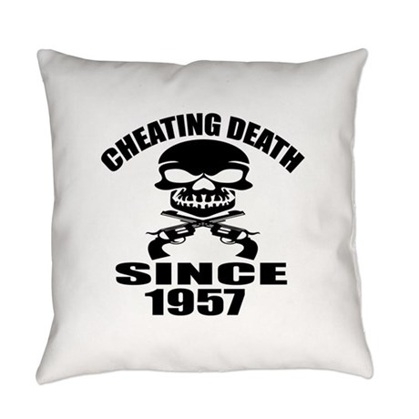 Cheating Death Since 1957 Birthday Everyday Pillow