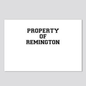 Property of REMINGTON Postcards (Package of 8)