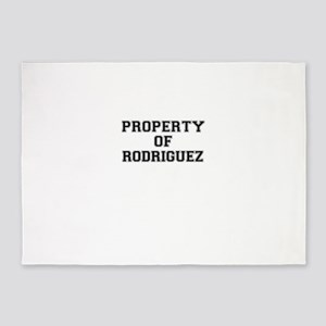 Property of RODRIGUEZ 5'x7'Area Rug