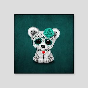 Teal Blue Day of the Dead Sugar Skull Polar Bear S
