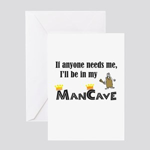 I'll be in my ManCave Greeting Card