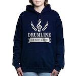 Drumline Band Drummer Women's Hooded Sweatshirt