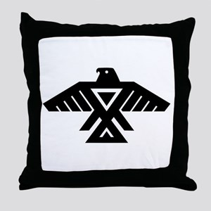 Anishinaabe Thunderbird flag Throw Pillow