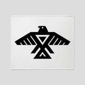 Anishinaabe Thunderbird flag Throw Blanket