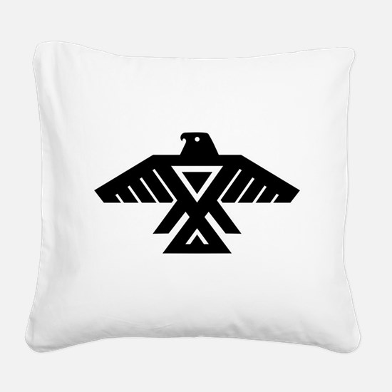 Anishinaabe Thunderbird flag Square Canvas Pillow