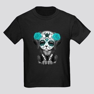 Cute Blue Day of the Dead Puppy Dog T-Shirt